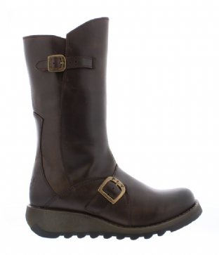FLY London MES 2 Womens Dark Brown Leather Boots